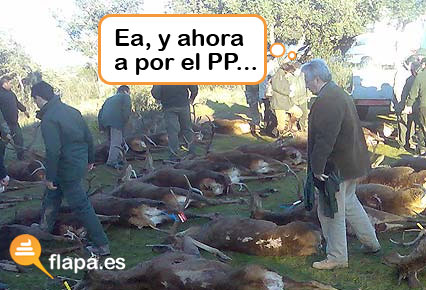 Imagen de la cacería del Juez Garzón y Bermejo