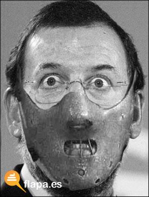 Rajoy con la máscara de Hanibal Lecter