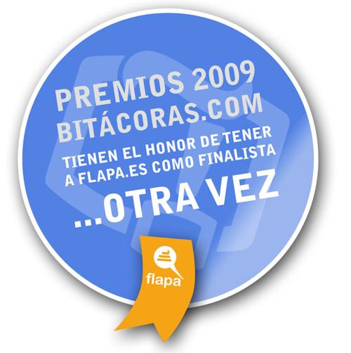 Flapa es finalista en los Prémios Bitácoras 2009 otra vez