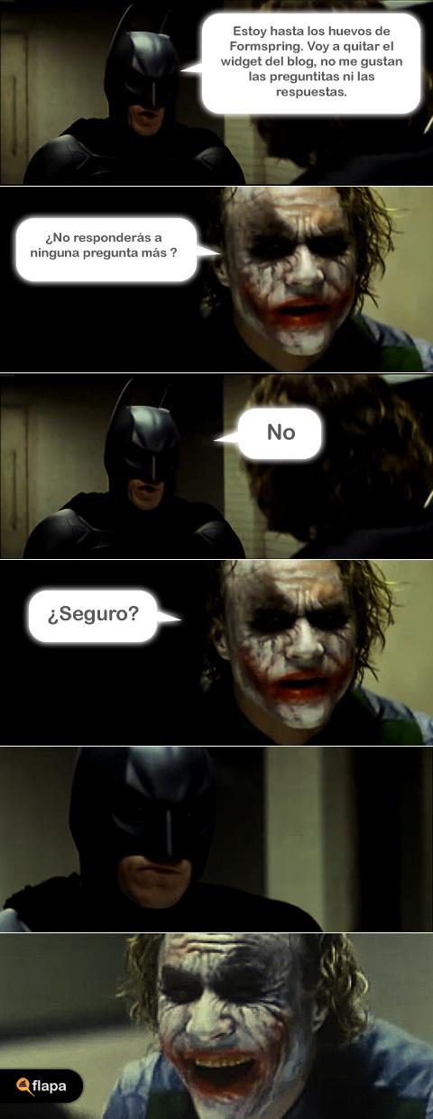 Batman y Joker hablan de Formspring