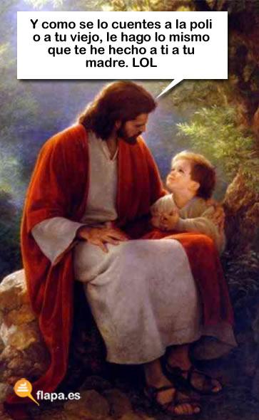 jesus lol con el  niño