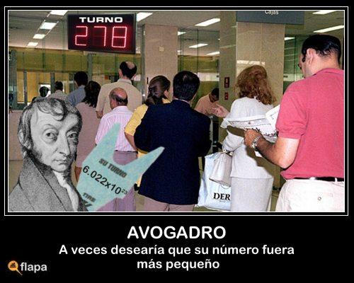 Numero Avogadro chiste