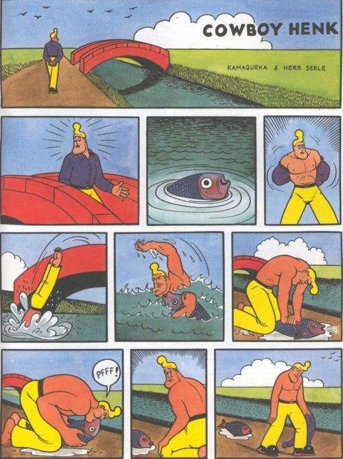 héroe, pez, pescado, mar, salvar, humor, viñeta, flapa