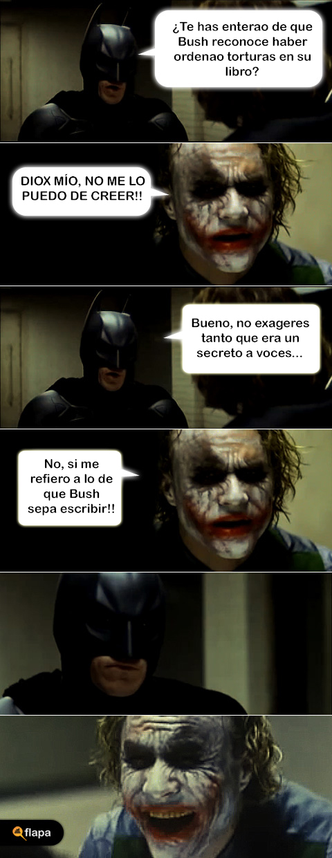 humor libro bush joker batman viñeta