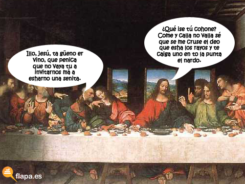 colaboracion mojona, mohonera, ultima cena,jesus, jesux, religion, iglesia