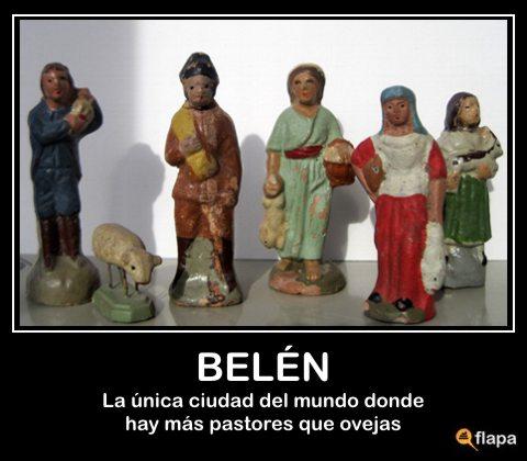 pastores viñeta humor belén