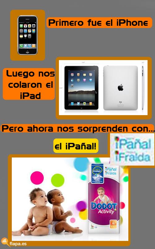 pañal, ipad, iphone, ipañal