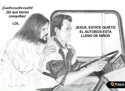 jesux conductor viñeta humor