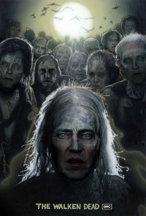 walking dead, televisión, series, humor, viñeta, walken