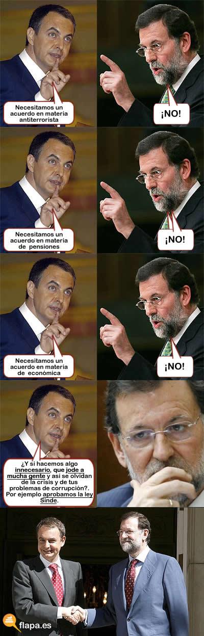 ley sinde, politica, pp, psoe, zapatero, rajoy, acuerdo, politicos, internet