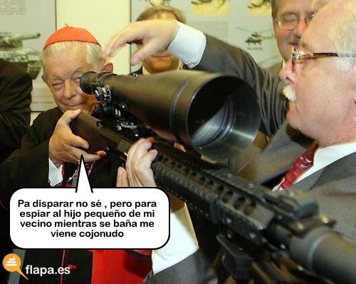 espia,cura,religion,pederastia,cristiano,jesus,jesux, que tiene más peligro que un cura con un rifle con mira telescopica