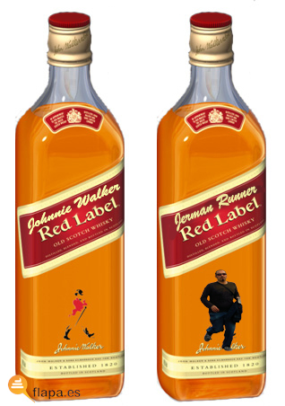 running jerman, running hermanisisimo, johnnie walker, whisky, viñeta, humor, meme