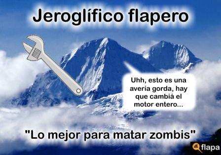 jeroglífico humor zombi