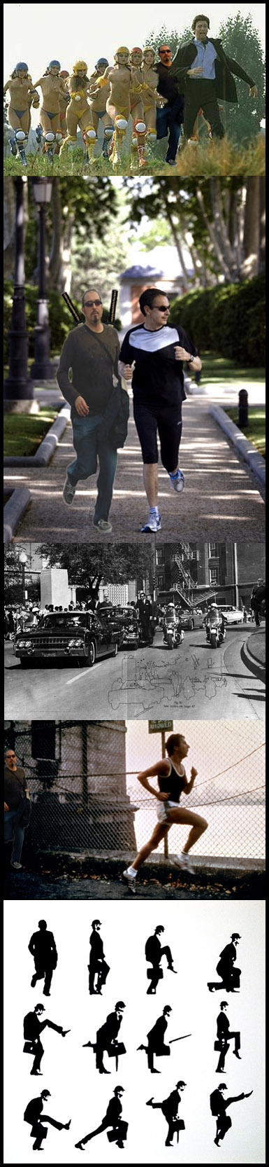 running, hermanisisimo,silly walk, monty python,meme