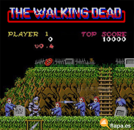 the walking dead, TWD, juegos, amstrad, cpc 464, ghost & goblins, zombies, frikada, friki