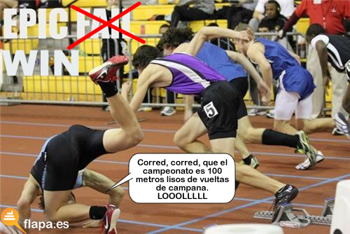 vuelta de campana, epic, win, fail, carrera, metros, lisos, pamplina