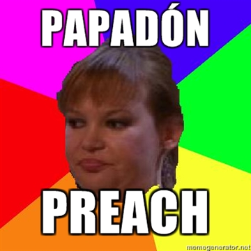 humor, viñeta, madonna, papadon preach, musica