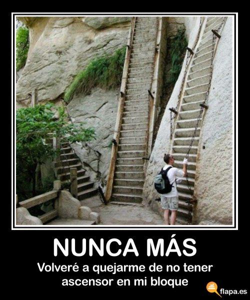 escaleras demotivational imagen humor