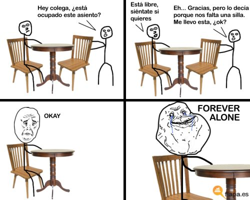forever alone viñeta bar