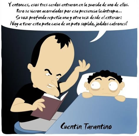 tarantino, quentin, los tres cerditos, cuento