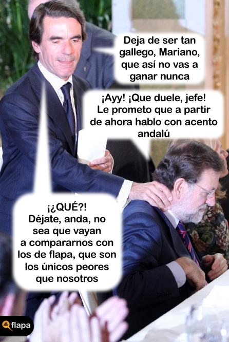rajoy, humor, aznar, politica, pp, psoe, gallego