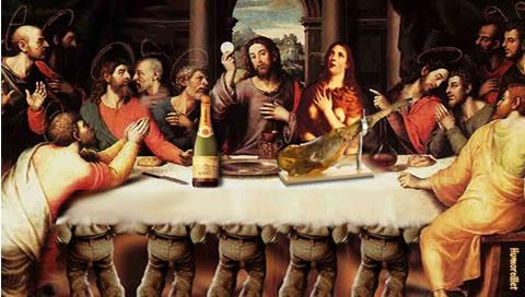 ultima cena, jamon, jesus, religion, cuadro, cristiano, maria magdalena