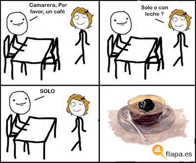 humor, funny, cafe, solo, forever alone, flapa, viñeta