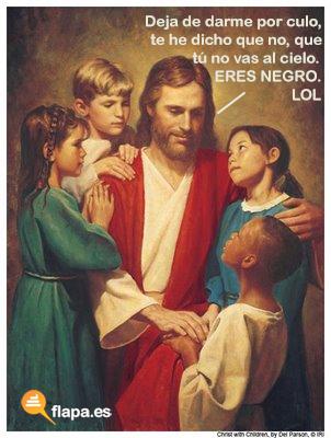 jesus lol, jesus, jesucristo, semana santa, religion, iglesia, flapa, humor, viñeta