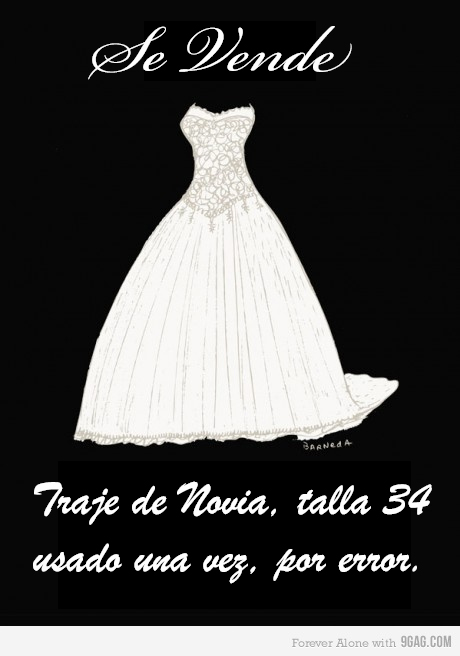 se vende, novia, traje de novia, boda, iglesia, funny, humor