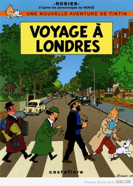 abbey road, the beatles, musica, tintin