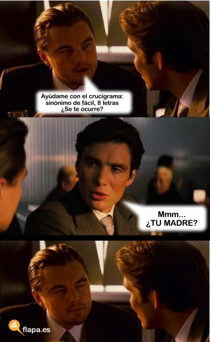 crucigrama viñeta inception