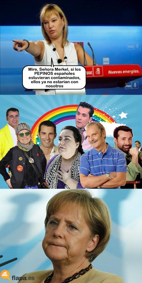 mariquita, homosexual, alemania, pajin, merkel, humor, funny, arcoiris, falete, españa, pepino, detallazo del politico de marras, que risa marialuisa, politica, crisis, verduras, cula