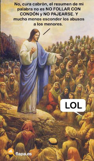 jesus lol, lol, cristianismo, iglesia, cura, funny, humor, viñeta, flapa