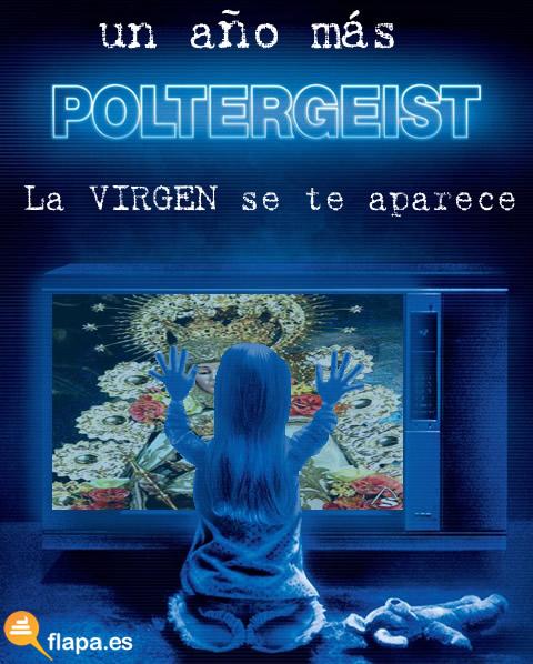 poltergeist, pelicula, rocio, virgen del rocio, virgen, religion, humor, viñeta, rociero, steven spilberg