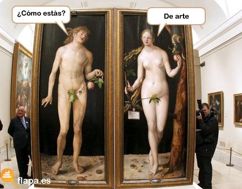 arte, museo, pintura, humor, viñeta, pamplina