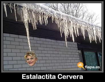 estalactita, nieve, tita cervera, baronesa tyssen, pamplina, meme, colaboracion mojonera, colaboracion mohonera, frio