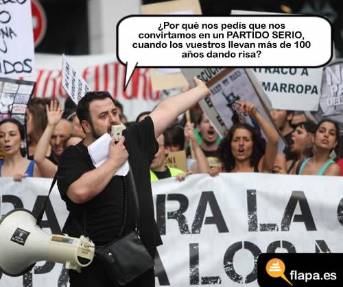 politica, humor, viñeta, partido, risa, 15M, toma la calle, spanishrevolution, que os peleis partidos politicos
