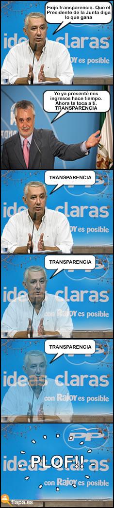 transparencia, politica, pp, psoe, javier arenas, griñan, humor, viñeta, sueldos