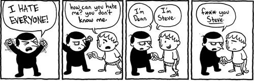 odio, viñeta, humor, pamplina