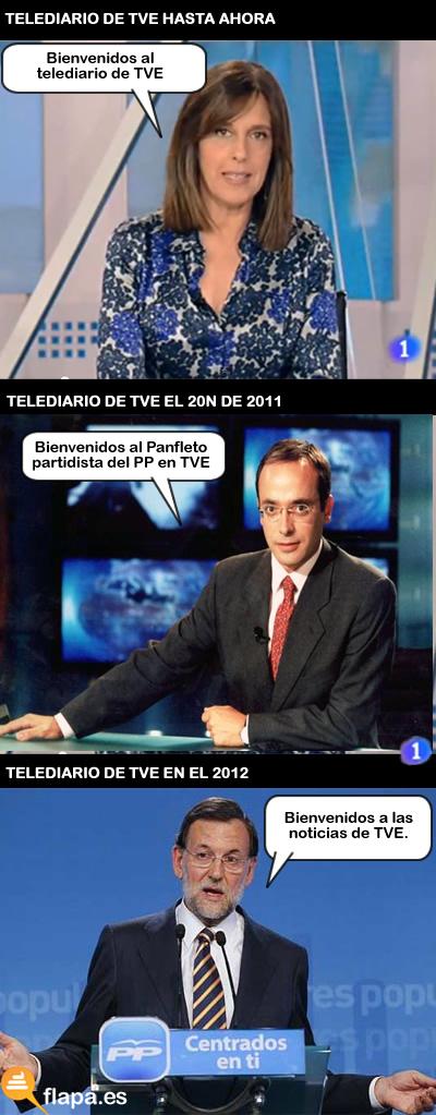 telediario, television, tv, politica, pp, humor, viñeta, pampleto, imparcial, lo que nos espera, elecciones, 20n