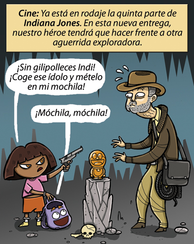 indiana jones vs dora la exploradora
