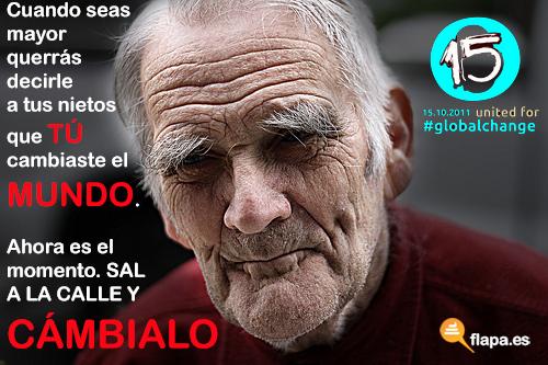 flapa, spanish revolution, world revolution, indignados, DRY, 15 o, 15 de octubre, manifestación