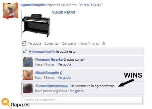 vendo, piano, musica, facebook, viñeta, humor, zas en toda la boca, wins,