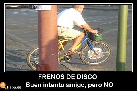 freno de disco, bici, deporte, bicicleta, doing worng, sevilla, triana, humor, viñeta