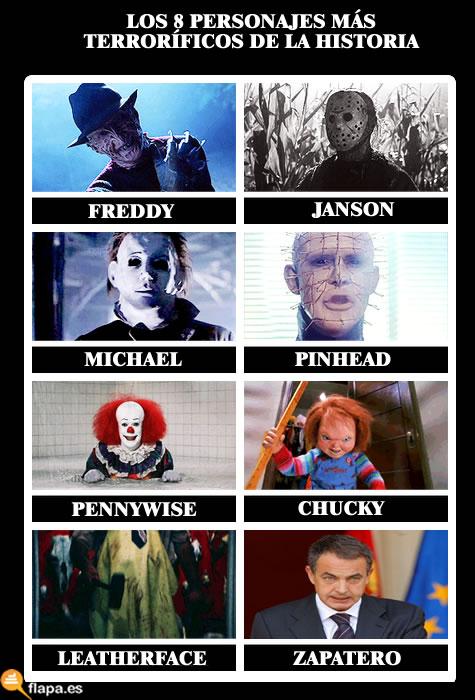 monstruo, zp, terror, miedo, viñeta, humor, politica, psoe, freddy, janson, pinhead