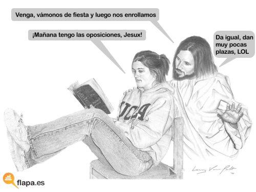 viñeta jesus oposiciones