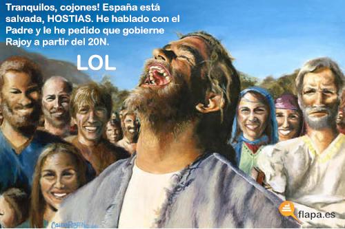 humor, viñeta, flapa, funny, rajoy, elecciones, 20N, zapatero, jesus lol, lol