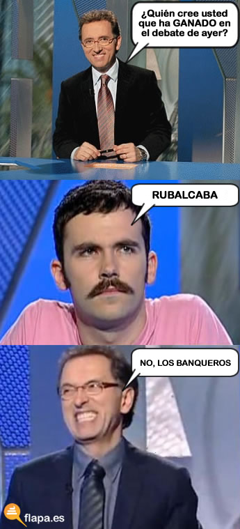 debate, electoral, elecciones, jordi hurtado, meme, inmortal, rubalcaba, rajoy, 2011, viñeta, humor