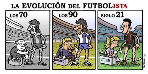 viñeta futbolistas