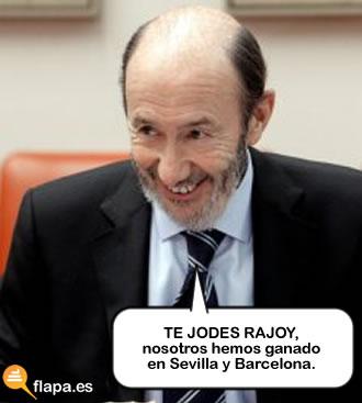 elecciones, 20n, 2011, politica, rubalcaba, psoe, viñeta, humor, psoe, palizon, je je je